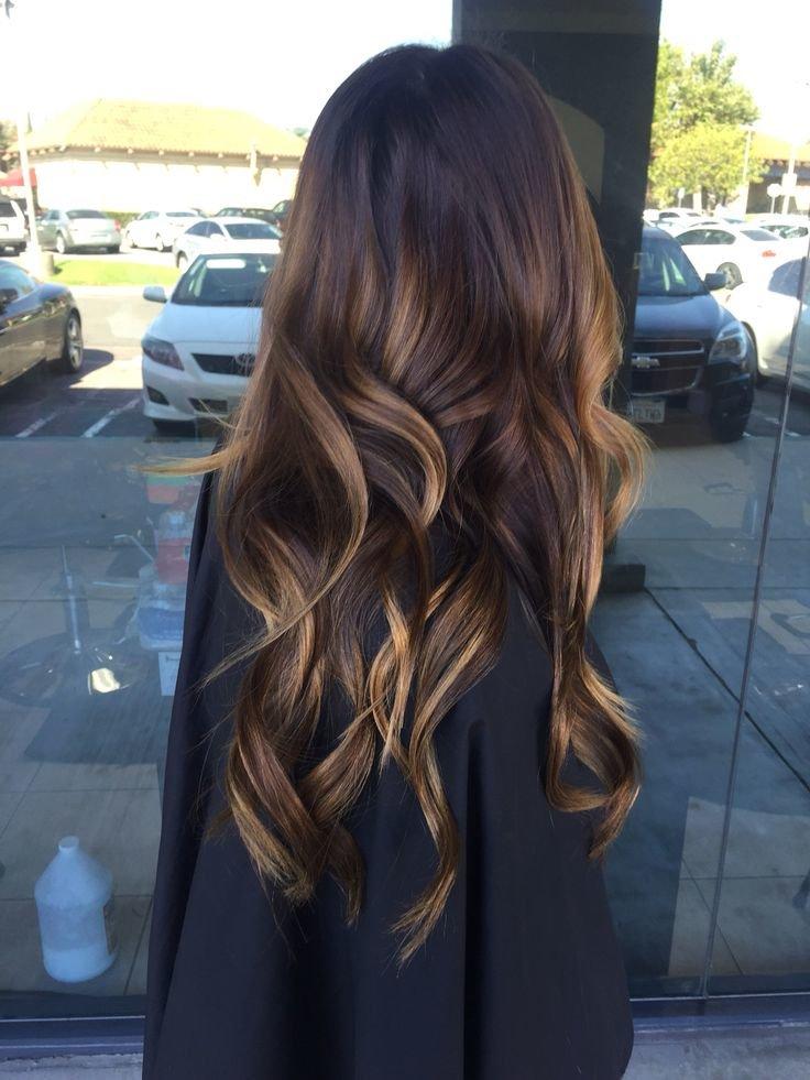 Градиент на волосах от темного к светлому