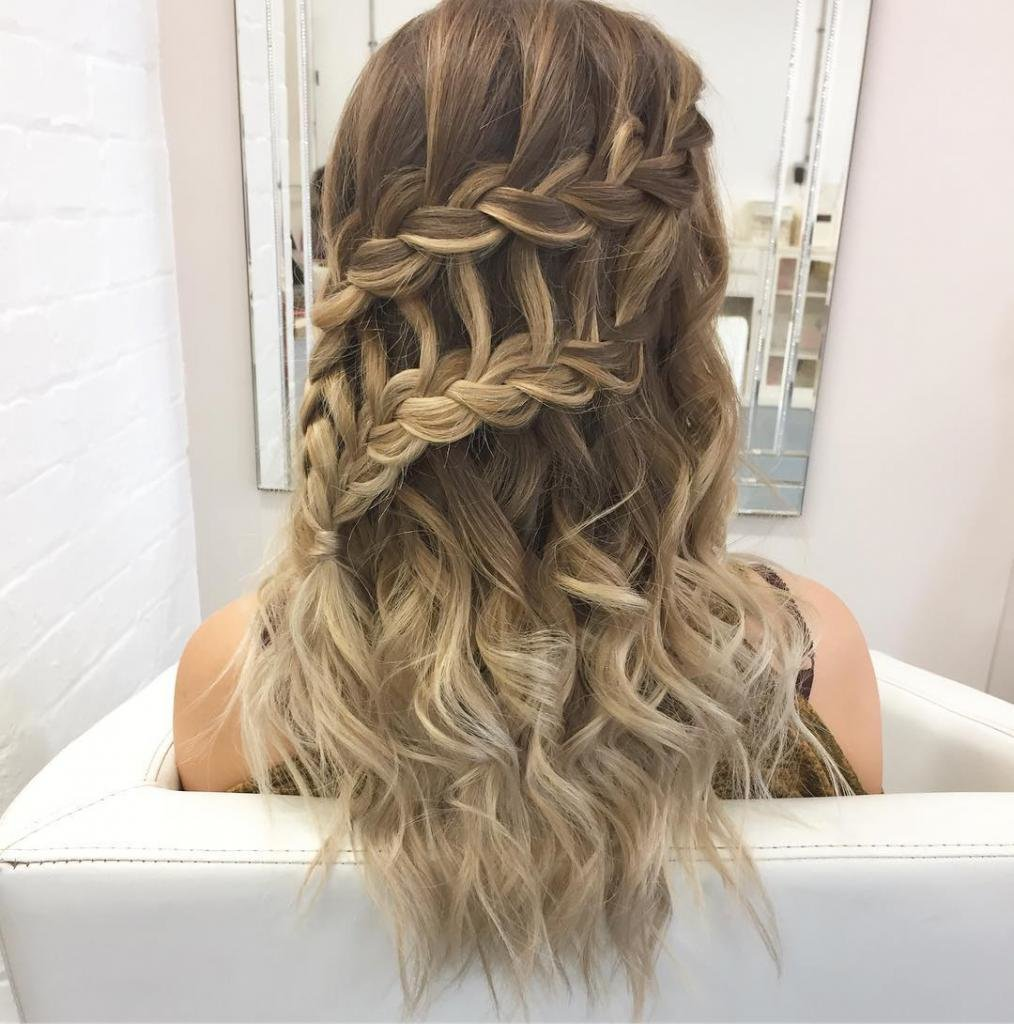 Прическа водопад на длинные волосы пошагово