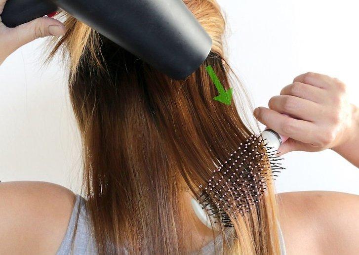 Как правильно сушить длинные волосы феном