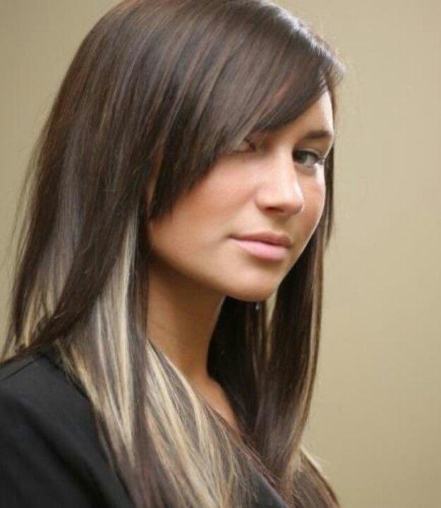 Двойное окрашивание волос на средние волосы