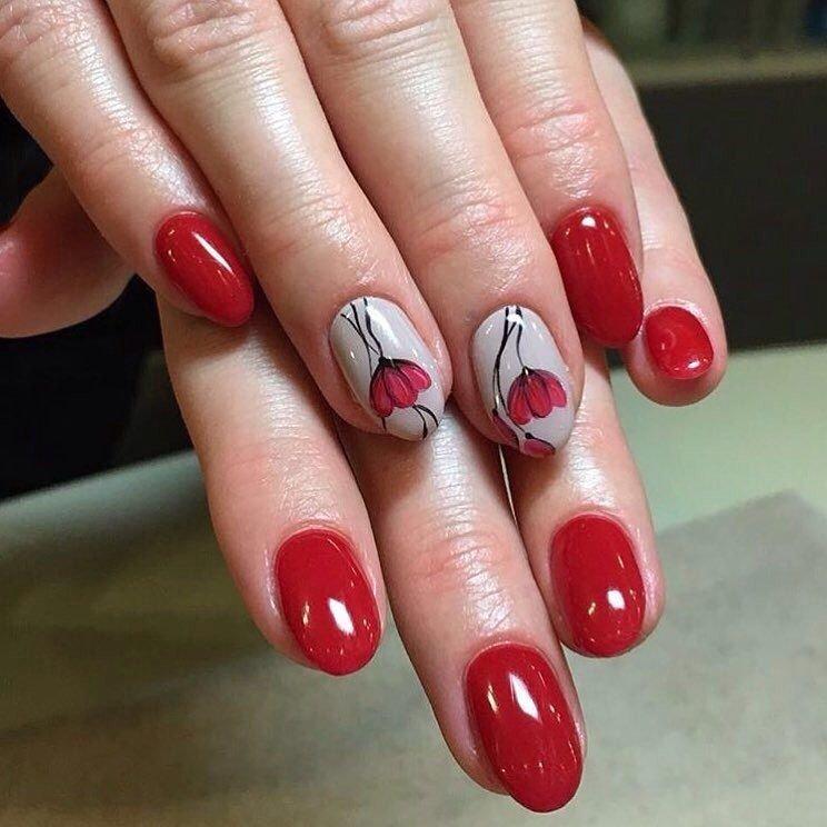 Красивые овальные ногти
