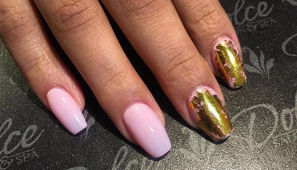 дизайн ногтей нежно розовый