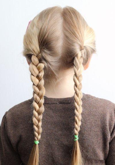 Плетение косичек для девочек: фото вариантов с пошаговым описанием