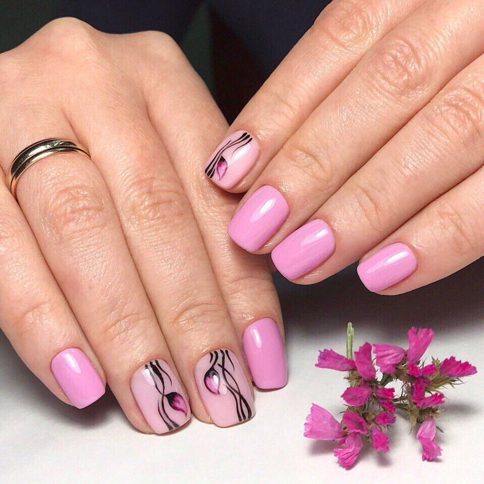 Рисунки на ногтях, покрытых шеллаком
