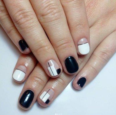"""Маникюр гель-лаком """"Геометрия"""". Дизайн ногтей с геометрическими фигурами"""