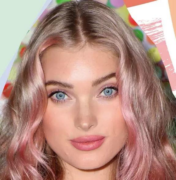 волосы с розовым оттенком