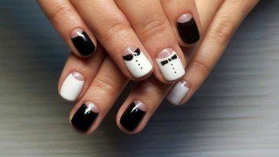 Шеллак на короткие ногти. Идеи дизайна ногтей