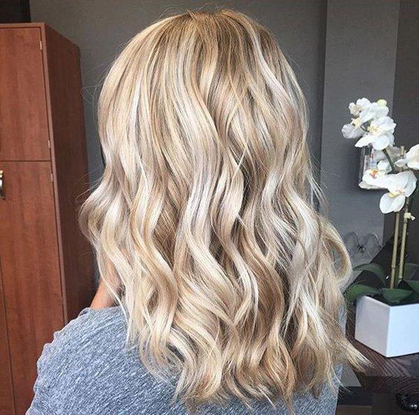 Блонд белый