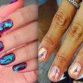 """Маникюр """"Битое стекло"""": модные идеи дизайна ногтей"""