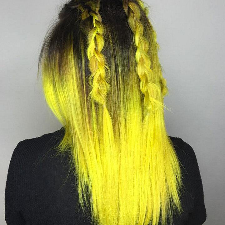 Черный с ярко-желтым
