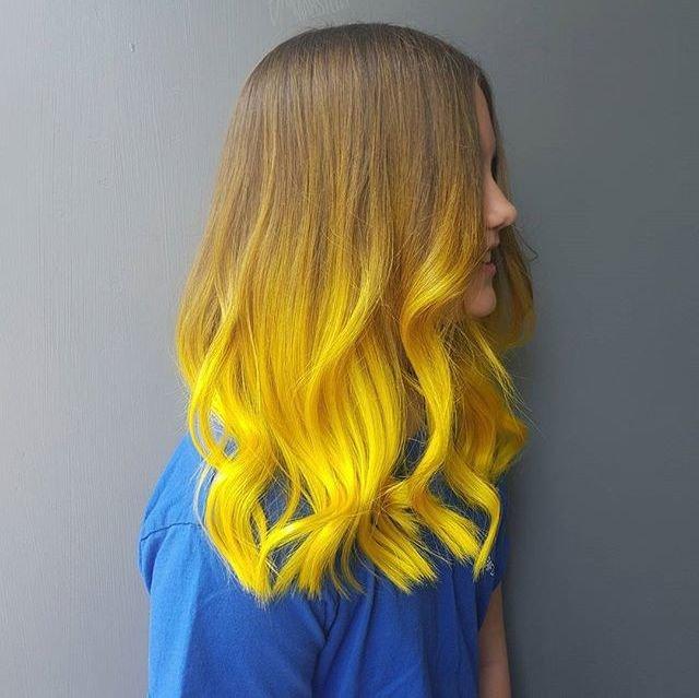Ярко-желтые кончики