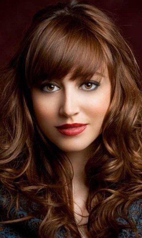 золотисто-каштановый цвет волос