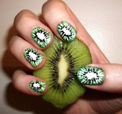 Киви на ногтях: пошаговая инструкция нанесения рисунка, использования шаблона, яркие сочные цвета, идеи и примеры маникюра