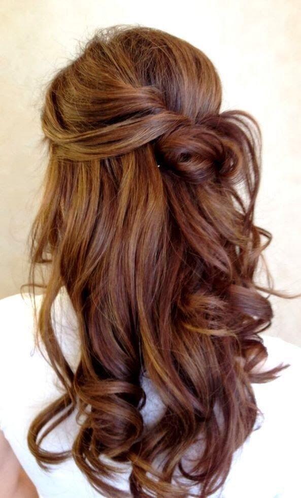 Волосы с пучком