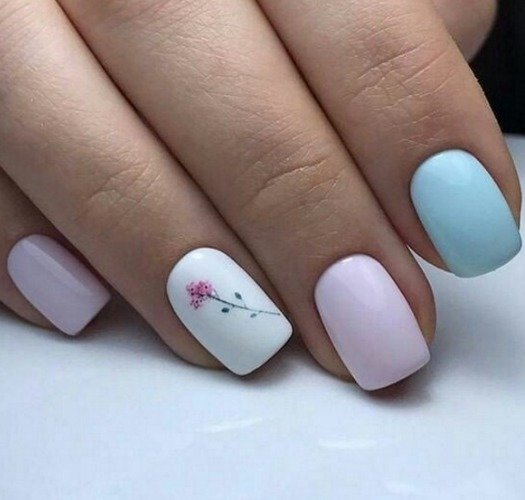 Грязно-розовый, нежно-голубой и слайдеры