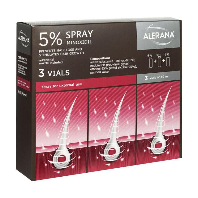Спрей Alerana для регенерации волос.