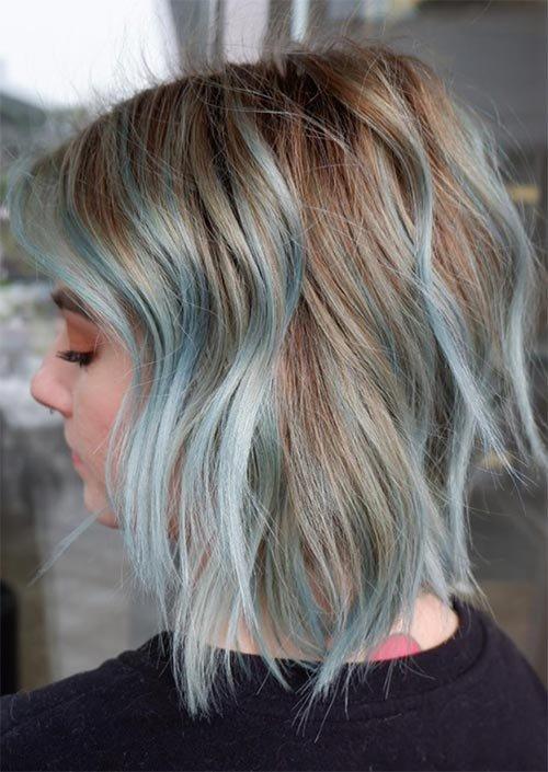 Мелки для волос на светлых волосах