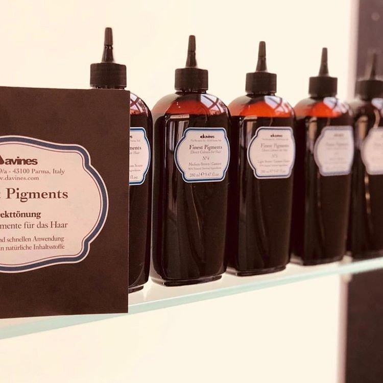 Ряд красителей davines finest pigments