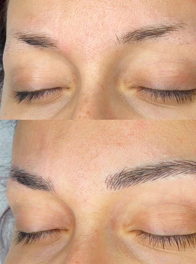 макияж бровей микроблейдинг