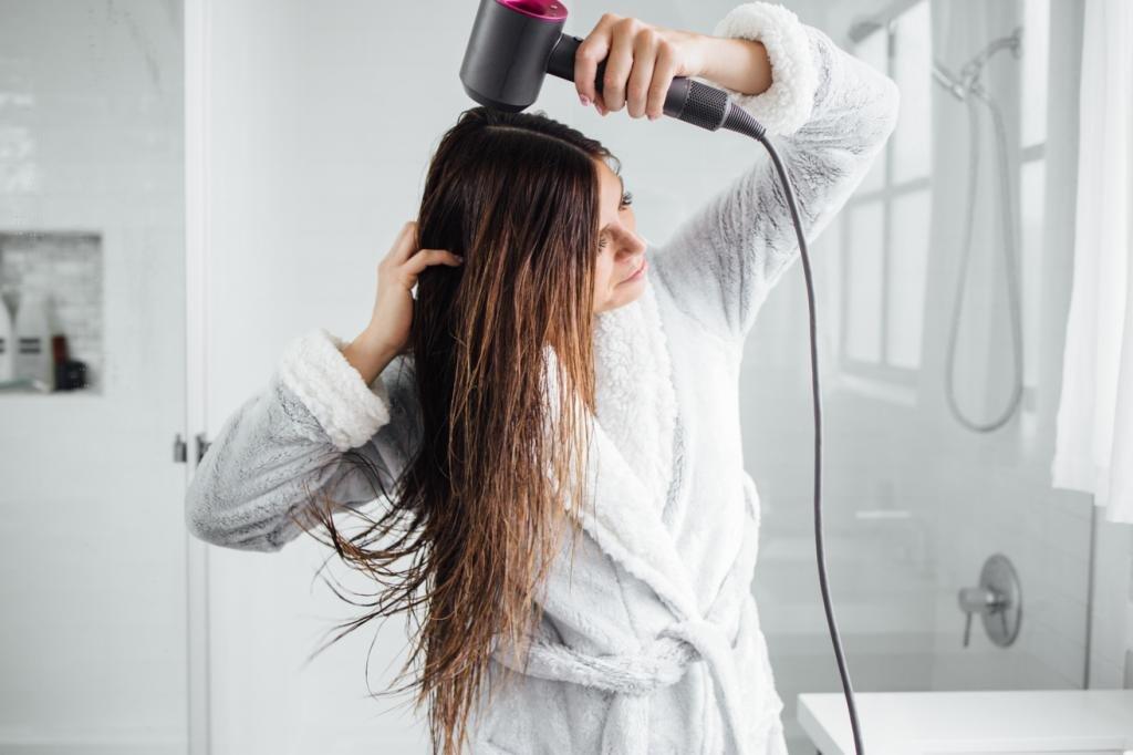 как научиться укладывать волосы феном