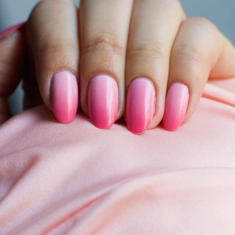 омбре розовое