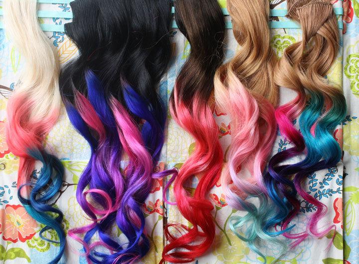 как покрасить искусственные волосы в домашних