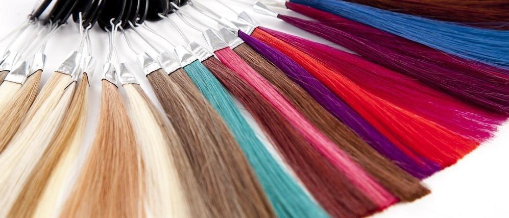 покрасить шиньон из искусственных волос