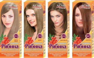 Краска для волос «Рябина»: состав, особенности окрашивания, палитра и отзывы
