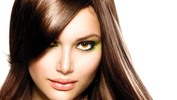 красивый цвет волос коричневый