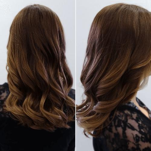 как получить коричневый цвет волос