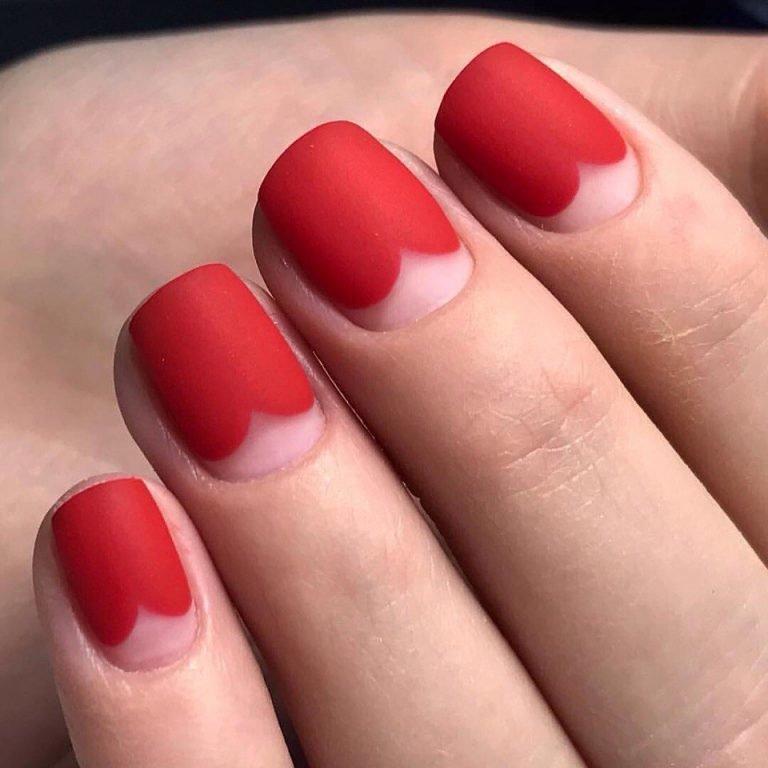 красивые красные ногти