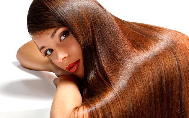Здоровые блестящие волосы