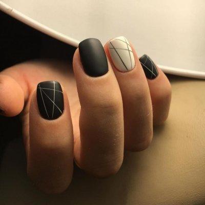 Геометрический маникюр: модные варианты, фото