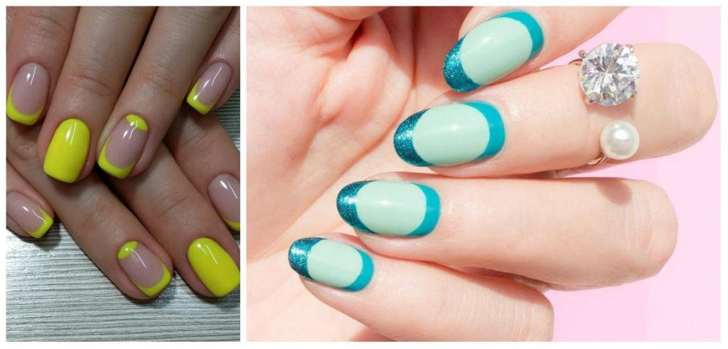 Красивый дизайн ногтей летний френч